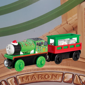 Thomas Friends Wooden Railway Letters To Santa Holiday Percy And Cargo Car Ebay