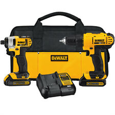 DEWALT 20V MAX Li-Ion Drill Driver and Impact Driver Kit DCK240C2 New