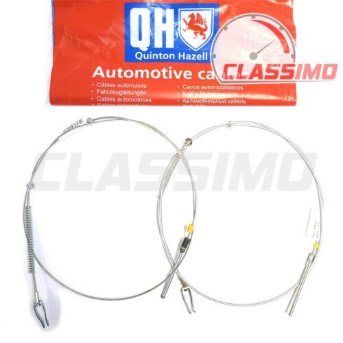 1959 to 1976 Quinton Hazell Rear Handbrake Cable Pair for AUSTIN MINI