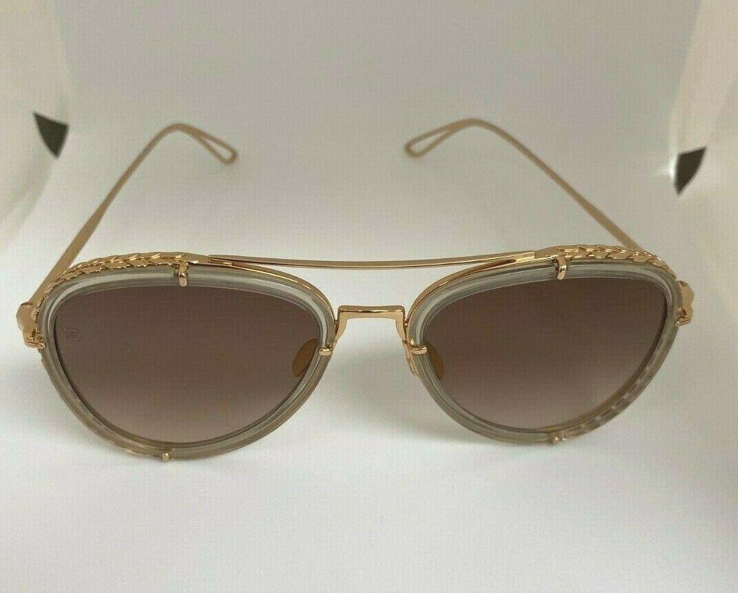 ELIE SAAB Aviator Gold Sunglasses ES 002/S