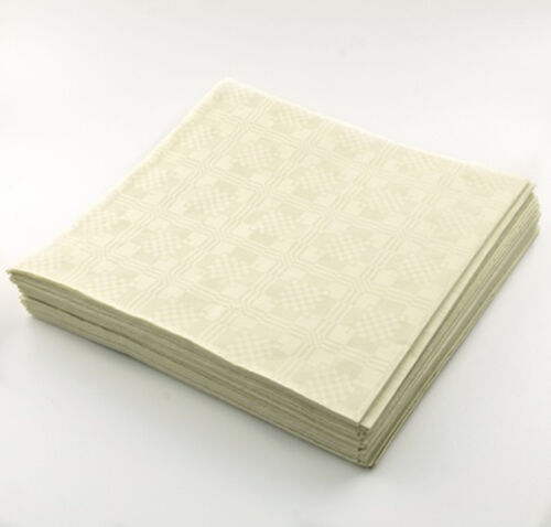 4x25pack=100 4 x 25 Sheets Ivory Disposable Paper Table Cover Cloth 90x88cm