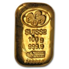 100 gram Gold Bar - Various Brands - SKU #172376
