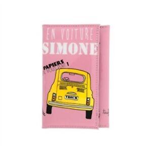 Porte Papiers De Voiture Simone Pochette Permis Pour Femme Dlp Derriere La Port Ebay