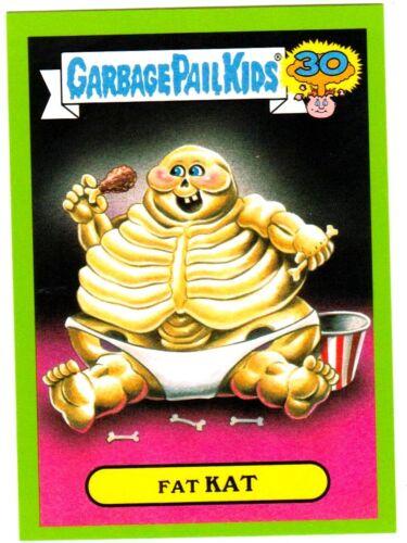 "2015 Garbage Pail Kids 30th Anniversary /""FAT CAT/"" #5b Green Border StickerCard"