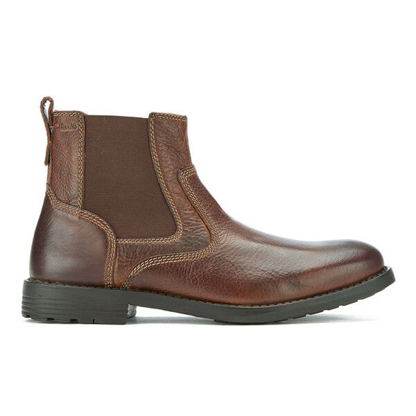 Clarks Mens  Faulkner On Tan Lea , Smart Chelsea Chelsea Chelsea Boots  UK 7,8,9,10,11 G 7cc035