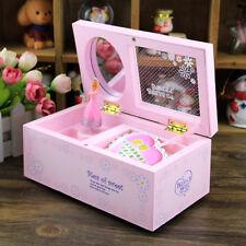 Unique Music Box Kids Musical Jewellery Box Rectangle with Romantic Ballerina