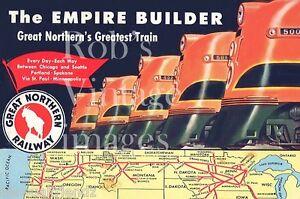Great-Northern-Railroad-Photo-Passenger-Train-Empire-Builder-1940-1950