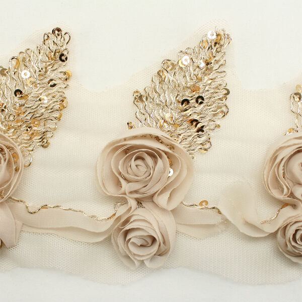 Sequin Chiffon Flower Trim Lace #96 - Hair Accessories Clip Headbands Millinery
