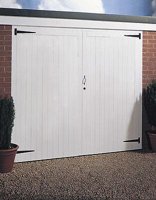 JELDWEN SIDE HUNG TIMBER WOODEN GARAGE DOORS & FRAME 2134MM X 1981MM ...