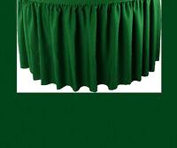 17' Hunter Premium Flame Retardant Table Skirts - Fire Resistant Table Skirting