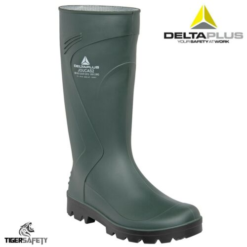 Delta Plus Joucas Green PVC Waterproof Outdoor Wellington Boots Wellies Rainboot