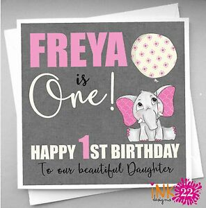 Image Is Loading Personalised 1st First Birthday Card Daughter Granddaughter Niece
