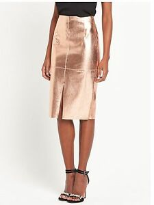 Midi Uk Pencil Island Gold sold Skirt Metallic Out Bnwt River Rose 16 xp4UqwwX