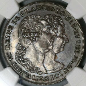 1793-NGC-MS-63-Louis-amp-M-Antoinette-France-Conder-Middlesex-DH-995a-19120701C
