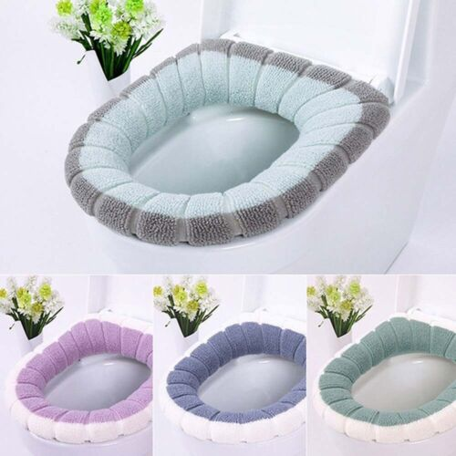 Washable Bathroom Toilet Warmer Soft Cushion Pad Closestool Seat Lid Cover Mat P