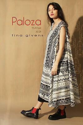 """TINA GIVENS /""""PALOZA DRESS TG-A7164/"""" Sewing Pattern"""