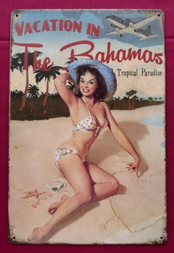 Vacation in the Bahamas Tin Poster
