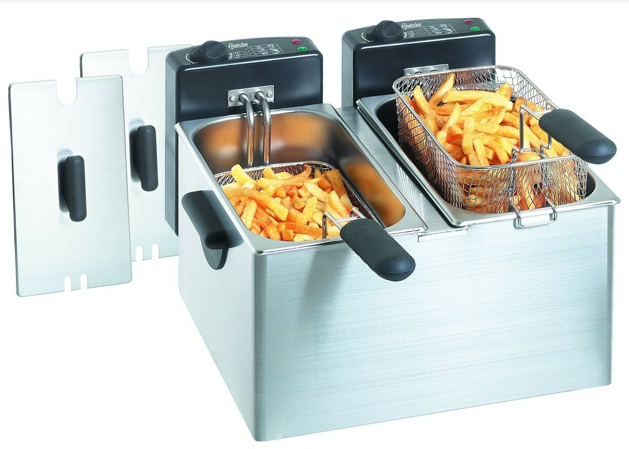 Bartscher Friteuse Friteuse Mini III 60-190 ° C 2x4l 400x400x280mm gastlando