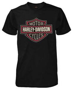 Harley-Davidson-Men-039-s-Safety-Shield-Short-Sleeve-Crew-T-Shirt-Black-R002312
