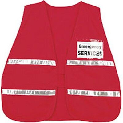 Incident Command Safety Vests - Red with Silver Stripes