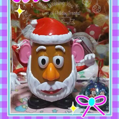 Tokyo Disney Christmas Limited 2016 Mr Potato Head popcorn Bucket Santa Claus
