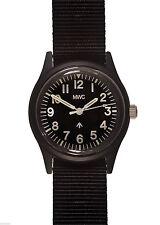 MWC Classic 1960s/70s Matt Black Euro Pattern Quartz Watch NEW BOXED