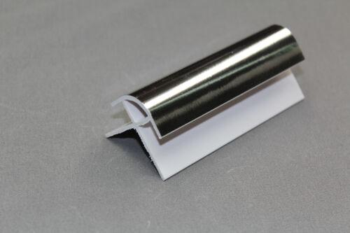 1 Silver 10mm External Angle Corner Trim 2.6m Bathroom Wall Panels Kitchen UPVC