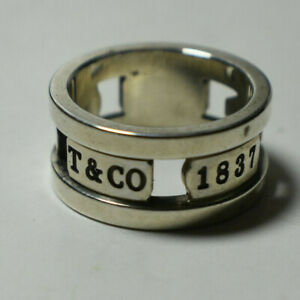 Tiffany & Co 1837 Elements Cutout Ring - Vintage, Rare, Sterling Silver Sz 5.5