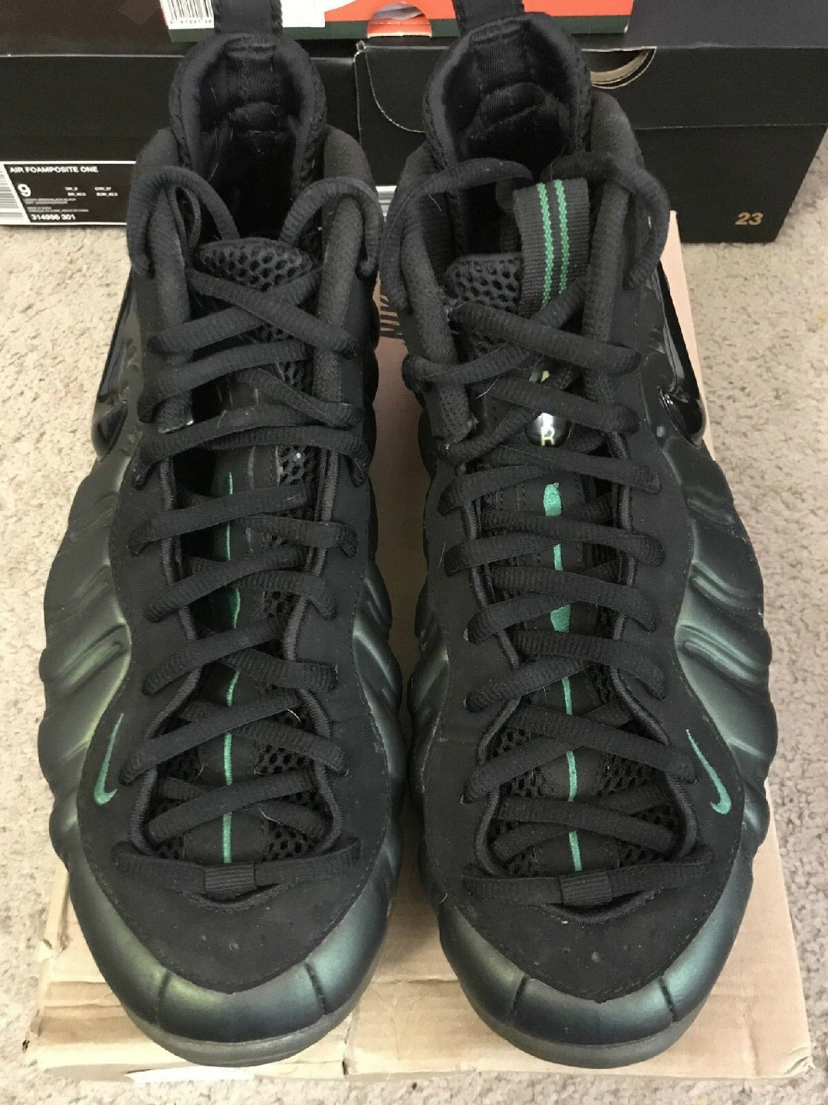 2011 Nike Air Foamposite PRO Pine Green Black 624041-301 Size 10.5