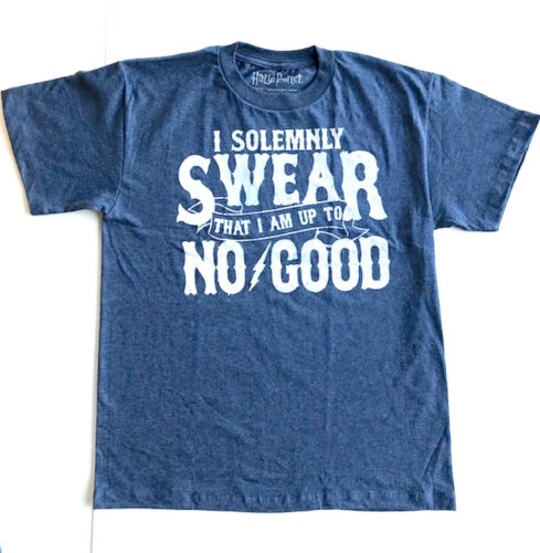 """Harry Potter /""""I Solemnly SWEAR That I Am Up To NO GOOD/"""" Kids T-Shirt  Sz L  NEW!"""
