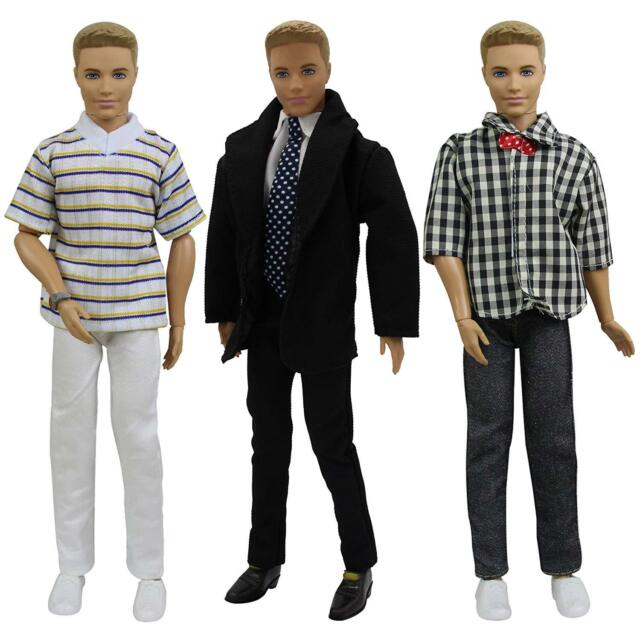 Lot 10pcs Clothes for Boy Friend Doll 3 Shoes Summer Outfits Shirt /& Pants Top