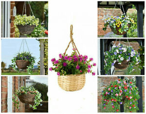 Rattan-Artificial-Flower-Hanging-Baskets-amp-Brackets-Outdooor-Garden-Decorative