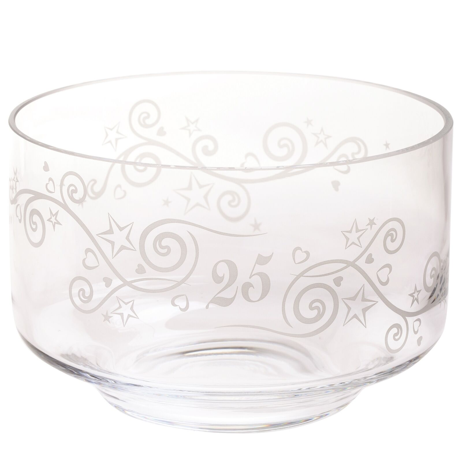 Dartington Crystal BD320125 Celebrate Bowl 25 Anniversary