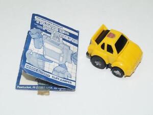 Cliffjumper Écouter N Fun Variant Hasbro 1985 G1 Transformers Figurine