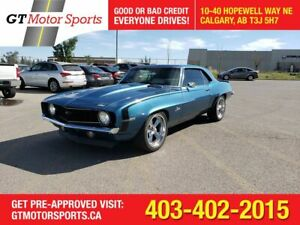 1969 Chevrolet Camaro V8   Coupe Hardtop I $0 DOWN-EVERYONE APPROVED!