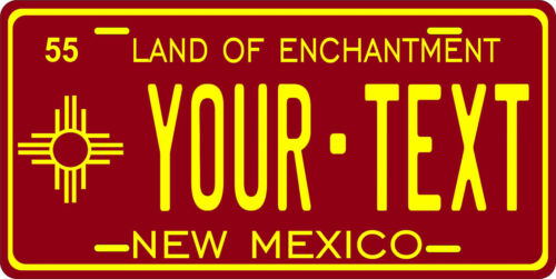 New Mexico 1955 License Plate Personalized Custom Auto Bike Motorcycle Moped