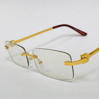 disfruta de un gran descuento mejor lugar para descuento de venta caliente Gafas de Sol Lentes Transparente Sin Marco Dorado Cuadrado Migos Hip Hop  Glasses | eBay
