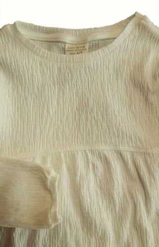 ZARA Girls WHITE Crinkled Empire Line Long Sleeved Blouse Top 4-12y £10.99