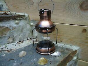 Ships-Masthead-Lamp-Copper-Lantern-Round-Port-star-board-Red-Clear-Garden-Gift