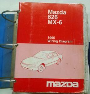 1995 mazda 626 mx 6 service shop repair manual wiring diagrams ebay. Black Bedroom Furniture Sets. Home Design Ideas