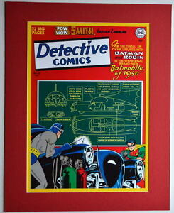 DETECTIVE-COMICS-156-COVER-PRINT-Professionally-Matted-DC-Batmobile