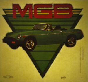 MG MGB glitter vintage retro tshirt transfer print, non glitter, new, NOS