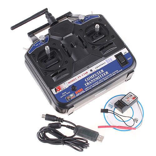2.4G FS-CT6B 6CH Radio Model RC Transmitter & Receiver