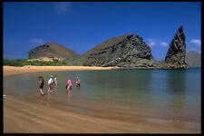 544092 Tourists Galapagos Island A4 Photo Print