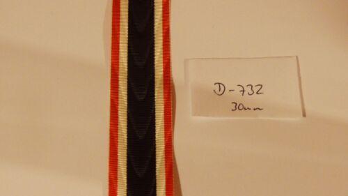 m9,80 Ordensband Kriegsverdienstkreuz 30mm breit 0,5m D732