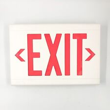 Hubbell Dual Lite Lxuwre Led Emergency Exit Sign Universal Mount 1 Or 2 Sided