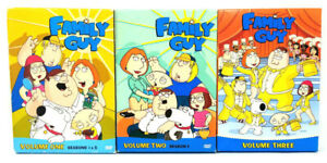 FAMILY-GUY-Complete-DVD-Series-Seasons-Volumes-1-2-3-Very-Good