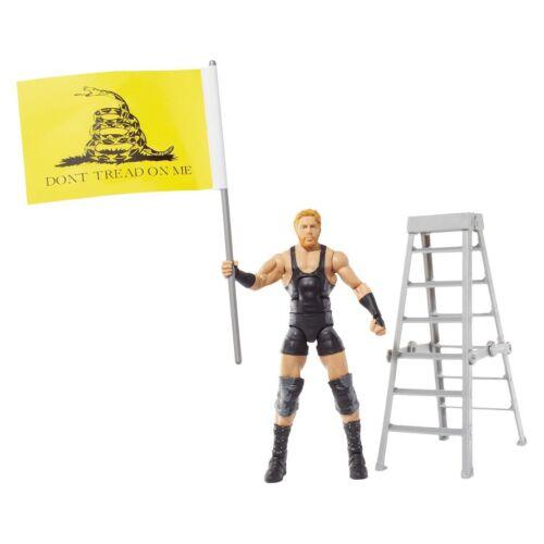WWE Jack Swagger Figure Elite Series 26 Wrestling vrais Américains Drapeau échelle