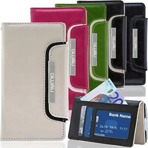 Handy Tasche Flip Case Cover Schutz Hülle Etui Schale Klapphülle Bookcase Wallet