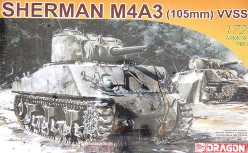 Sherman M4A3 1//72 Dragon 7274 105mm VVSS